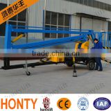 Professional design 200kg Diesel Engine/Battery Type Folding Arm truck mounted boom lift