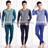 2016 fashion soft men's thermal underwear leisure man pure cotton long johns