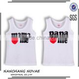 Papa Mama Love Me 100% Cotton Children Tees Infant Vest Baby Sleeveless T Shirt Kids T-Shirt Boys Girls Summer Wear Singlet