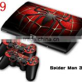 for PS3 slim 4000 protective skin stickers + 2Pcs controller skin for SONY PS3 4000 console decal
