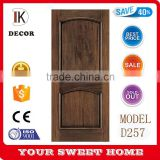 walnut veneer natural color wooden double panel doors design                                                                                                         Supplier's Choice