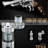 Shipped Now!Best Vaping product Top filling Smok TFV4 Tank Black and Stainless Steel, Coming Soon TFV4 Mini for Pre order
