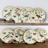 Japanese and Chinese Style Ceramic Tableware Underglaze Color Plate Saucer Quality Wind Creative Dish Deep