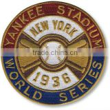 sports patch and badge with baseball pattern