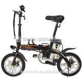 Foldable Alloy Frame Mini Electric Bicycle with 48V12ah li-ion Battery 14 inch 48V 250W Motor ebike For City Road