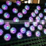 Brand DJ Disco Light Blooming Lotus Decoration Stage Lighting Effect Auto Rotating Crystal LED Lights RGB LED Magic Ball Lamp