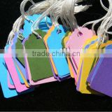 white card paper custom jewelry tags, colorful printed jewelry tags for ring, necklace, pendant, earring, bracelet