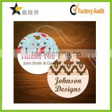 2015 Chinese factory custom round eco festival greeting thankyou cards