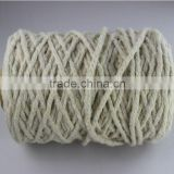 Recycled cotton white color knitting mop yarn carded yarn ne0.5/4
