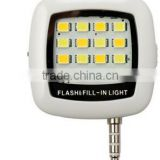 excellentiblazr LED FLASH for camera Phone for multiple Photography mini selfie sync led flash built-in 4 led lights