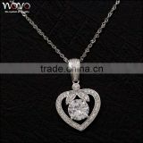 Fashion wholesale steling silver heart necklace