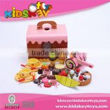 Children wooden play set kitchen pretend play wooden toy box