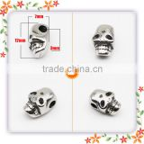 stainless steel metal bead decorative skull for men bracelet making