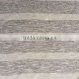 stock rayon spandex yarn dyed grey striped knit jersey fabric for T-shirt