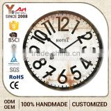 Luxury Quality Customized Logo Printed French Country Tuscan Style Antique Mdf Wall Clock Anchor