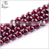 Gorgeous AAAAA Grade Red Garnet Gemstone Round Faceted Loose Beads Strand for Jewelry Making