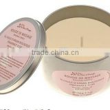 Skin Moisturising Candle/Natural Oil Massage Candle in Ceramic Container