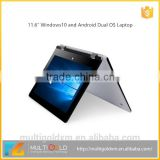 11.6 inch Laptop IPS Touch Screen I Intel Z8300 4GB RAM 64GB ROM Win 10 With 360 Degree 1920X1080 Pixels Quad Core Tablet PC