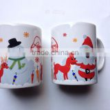 11OZ white new bone china ceramic mug with snow and deer design