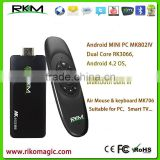 Rikomagic MK802 IIIS MINI PC Blue Tooth Mobile Remote Control RK3066 A9 1GB RAM 8G ROM kodi