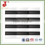 300x300mm white and black mix plastick crystal glass mosaic for crystal glass tile                                                                         Quality Choice