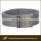 2014 wholesale grey webbing belt , antique silver buckle belt antique silver buckle belt