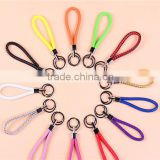 colorful braid leather string key chains advertising/promotion gift