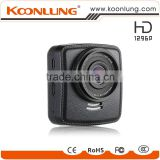 Koonlung unique design leather cover full super hd 1296P GPS dvr camera with speed cam video recorder
