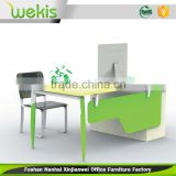 OEM assembled new design office computer table design workstation partition with customized size