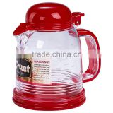 A051 300ml kitchen cooking plastic oil can with lid and handle