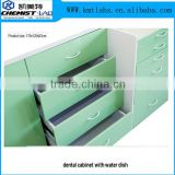 Toughened Glass Countertop Clinic Furniture Type Wooden Dental Clinic Lab Bench With Multi Drawers
