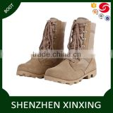 comfortable Cow leather panama rubber outsole with lace color black, desert camouflage tactical jungle boot