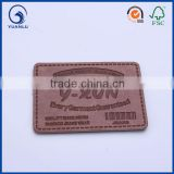 Brown leather luggage tags jeans leather patch label