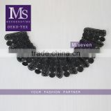 mysterious latest woman collar designs black flower pattern neck collar