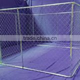 Lowes Chain Link Dog Kennel 10' x 10' x 6' Large Tall Chain Link Fence Pet Enclosure Run House 6x10 Foot