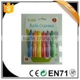 Bath Crayons, 6clrs/blister card