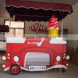 Hot and Popular free moving automatic stainless steel ice cream / shave ice trailer