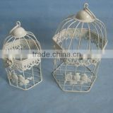 2014 New design Europe and America Classic style S/2 Bird Cage for Wedding Antique white color