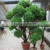 2016 hxplant artificial topiary boxwood spiral artificial bonsai trees