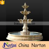 Small size hand-carved indoor decor yellow granite water fountain NTMF-SA066L