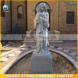 Wholesale Gray Stone Mary And Baby Jesus Statue