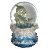 Crystal Dolphin Oceans Water Globe for Valentine's day