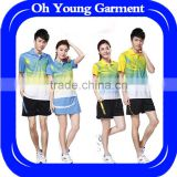 Hot selling badminton jersey,badminton uniform and sportswear manufactures