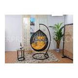Black Rattan Swing Chair Hanging Chair / Rattan Egg Swing Chair