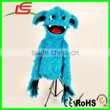 Professional blue openmouthed blinked plush monster ventriloquist puppets