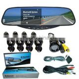 Bluetooth Handsfree Rearview Mirror Car Kit (BT-728SC4)