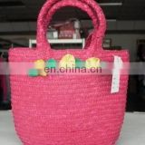 Straw shopping bag
