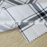 Shaoxing textile 100% cotton printed poplin fabric black and white Lattice pattern for Shirt poplin fabric