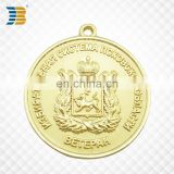 cheap custom round gold plating metal charm