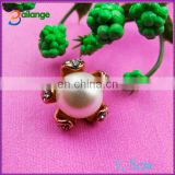 2015 newest shinning bailange custom rhinestone plating round rhinestone pearl shank button for garment accessory